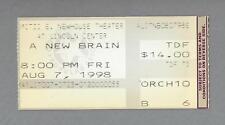 "Kristin Chenoweth ""A NEW BRAIN"" William Finn / Chip Zien 1998 Ticket Stub"