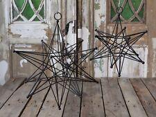 Chic Antique Dekostern Stern Schwarz Weihnachten Advent Winter Nostalgie nordic