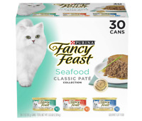 Purina Fancy Feast Grain Free Pate Wet Cat Food Variety 30 Pack 3 oz. Cans