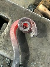Hand forged Ram's head fire poker / Blacksmith Fire pit tool
