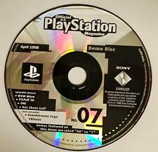 PlayStation Magazine DEMO DISC #07 JANUARY 1999  - WCW NITRO - PITFALL 3D etc.