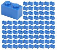 ☀️100x NEW LEGO 1x2 BLUE Bricks (ID 3004) BULK Parts City Sky Ocean Sea Water