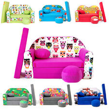 ★★★ Kindersofa KIDS SOFA Couch 3in1 + Kindersessel Kissen Matratze SALE 7% RABAT