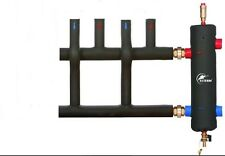 """Low Loss Header 1 1/4""""  70kW Coated + 2 Way insulated MANIFOLD - 1 1/4"""""""