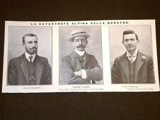Catastrofe degli Alpini della Nordend nel 1909 Castelnuovo Bompadre Sommaruga