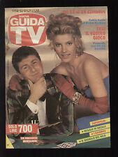 """GUIDA TV MONDADORI 50/1988 FABIO FAZIO E ELVIRE AUDRAY """"FATE IL VOSTRO GIOCO"""""""