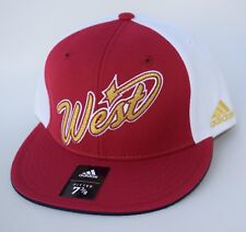 NWT NBA West Size 7 3/8 Fitted adidas Flat Bill Baseball Cap Hat MSRP $30