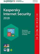 KASPERSKY INTERNET Security 2019 3 Pc /1 Year /Global /Delivery in 8 hours 14.5$