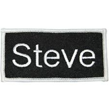 """""""Steve"""" Name Tag Uniform Identification Badge Embroidered Iron On Applique Patch"""