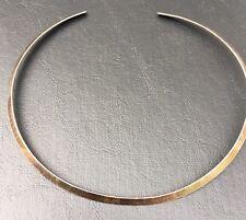 Ed Levin Signed  Choker Necklace Hand Hammered Sterling Silver Vintage