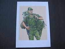 affiche : infanterie de la légion étrangère en opération