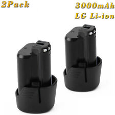 2x 12V/10.8V 3.0AH Lithium Ion Batterie pour BOSCH BAT411 GDR GOP GSR 10.8 V-LI