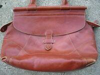 J.Jill vintage Rugged Leather Shopper Carry All Tote Shoulder Bag