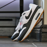 Nike Air Max 1 White/Black/Gum Men's Shoes Lifestyle Comfy Sneakers