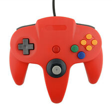 USB Wired Controller Joypad Gamepad Gaming For Nintendo N64 PC Mac Red