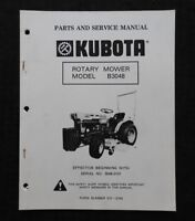 "KUBOTA B5100 B6100 B7100 TRACTOR ""B3048 MOWER DECK"" SERVICE & PARTS MANUAL"