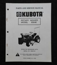 heavy equipment manuals books for kubota mower ebay rh ebay com Kubota Mower Deck Parts Kubota BX