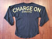 "XS Spirit Jersey UCF Knights "" Charge On "" Football Long sleeve Black SHIRT"