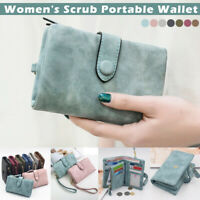 Women's Tri-fold Multi-Card Wallet Purse Card Holder Case Fashion Leather Clutch