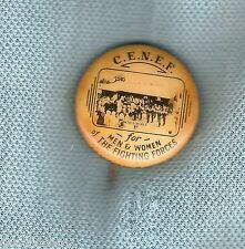 #D205. C.E.N.E.F.   TIN BADGE, WALGROVE, FOR MEN & WOMEN OF FIGHTING FORCES