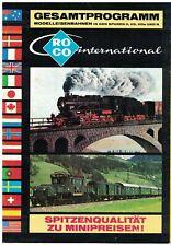 Roco Katalog 1977 / 1978, Spur 0, H0, H0e, N