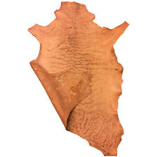 SALE Cognac Leather Hides Veg Tanned Sheepskin Rustic Upholstery Craft Skins 965