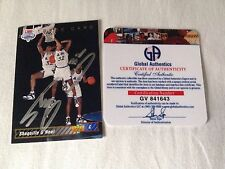 Shaquille O'Neal HAND SIGNED 92 Upper Deck Trade GLOBAL AUTHENTICS COA Stock #01