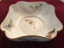 L Bernardaud & Co Limoges France 24K Gilt Bowl, Butterfly Scalloped