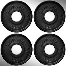 hierro fundido Placas Para Pesas 4x 1.25kg Ajustada 5.1cm Olímpico barras