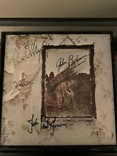 Led Zeppelin IV Vinyl Record LP 1971 Signed By Entire Band COA READ