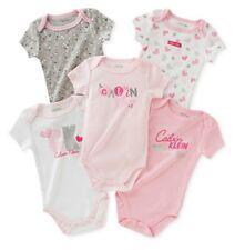 CALVIN KLEIN BABY GIRL'S 5 PACKS HEARTS BODYSUITS. SZ 3-6M