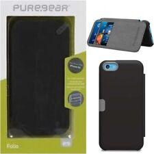 PureGear Apple iPhone 5C Credit Card Folio Case W/ Convertible Kickstand Black