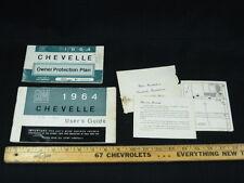 1964 Chevrolet CHEVELLE Owners Instruction Manual 2pcs CDN