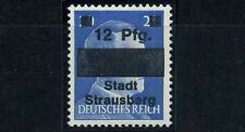 Strausberg 12Pfg./20Pfg. Aufdruck 1945** Probedruck signiert Michel II P (S9364)