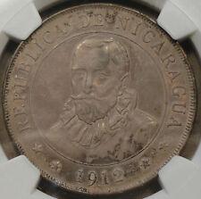 Nicaragua 1912-H Cordoba NGC AU55