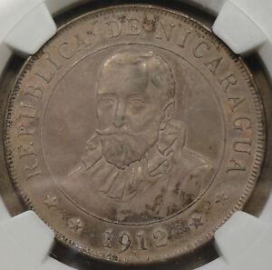 Nicaragua 1912-H Cordoba NGC Certified AU55