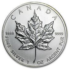 2010 1 oz Silver Canadian Maple Leaf Coin - SKU #56011