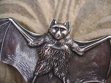 3262 Antiqued .925 Sterling Silver ptd Brass Bat Pendant Centerpiece USA, 1 Qty
