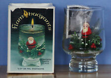 Vtg 1978 Flambuoyants Floating Flame Santa Salad Oil Candle Earth-Friendly NEW
