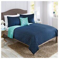 4pc King Quilt Set w/ Pillow Blue Better Homes & Gardens Bedding