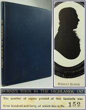 1927*ROBERT BURNS*TOUR IN THE HIGHLANDS*SCOTLAND*FACSIMILE JOURNAL*LIMITED ED*VG