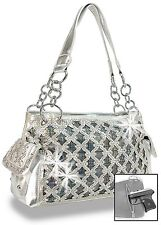 Concealed Carry Rhinestone and Iridescent Layered Handbag​