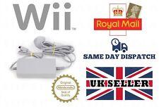Genuina Oficial Nintendo Wii Fuente De Alimentación AC Adaptador UK 3 Pin Enchufe PSU