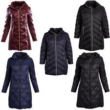 Michael Kors Down Puffer Jacket MK Quilted Hooded Coat Womens Long Winter Wear