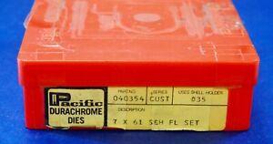 Pacific/ Hornady 7 x 61 S&H 2-Die Set-w Shell Holder-(040354)-RARE