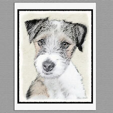 6 Russell Terrier Rough Dog Blank Art Note Greeting Cards