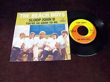 "THE BEACH BOYS ""SLOOP JOHN B"" 7"" 45 PS 1ST PRESS CAPITOL US 1966 BRIAN WILSON"