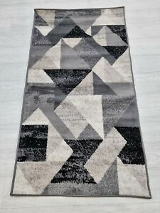 Rug GREY BEIGE 80 x 150 cm Soft Touch Living Room Quality TURKISH FLOOR RUGS