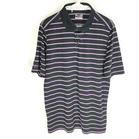 *NEW* UNDER ARMOUR Mens Polo Shirt Size Large Loose Heat Gear Black Striped
