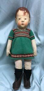 Early Kathe Kruse toddler girl doll